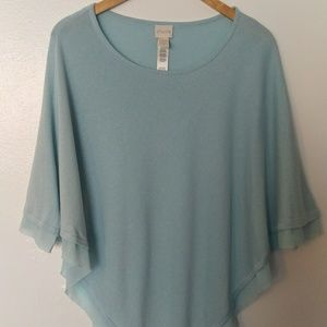 Chico's light blue poncho. Size=S/M